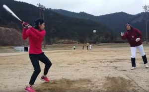 練習に松川選手兼コーチが初合流