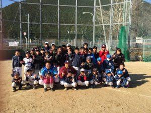 大塔中学校グランドで『子ども野球教室』を開催しました