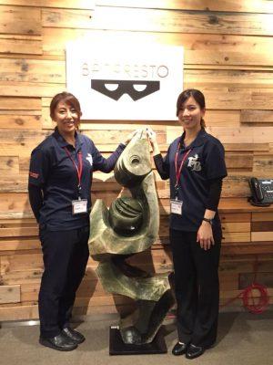 大倉&吉田奈津選手が創通様、バンダイナムコエンターテイメント様とバンプレスト様を訪問しました