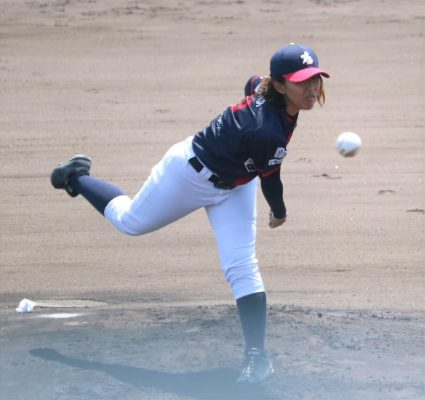 大倉三佳選手 関西ラッキーリーグB 2018年度 最優秀防御率受賞