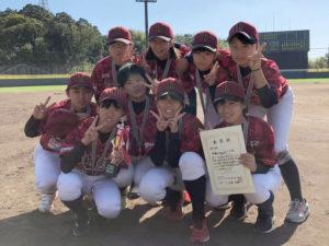 第1回リトルシニア関西連盟中学女子硬式野球大会 第3位!!
